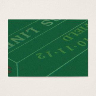 Gamblers Craps Table  Image Business Card