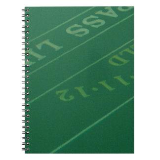Gamblers Craps Table  Image Notebook