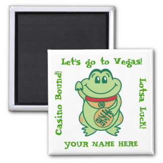 Gambler's Custom Magnet - add your name