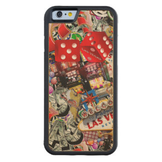 Gamblers Delight - Las Vegas Icons Background Carved Maple iPhone 6 Bumper Case