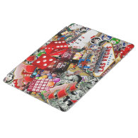 Gamblers Delight - Las Vegas Icons Background iPad Cover