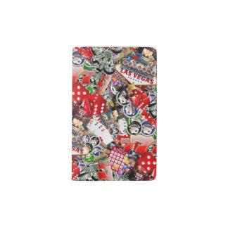 Gamblers Delight - Las Vegas Icons Background Pocket Moleskine Notebook