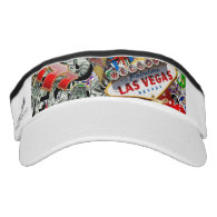 Gamblers Delight - Las Vegas Icons Background Headsweats Visor