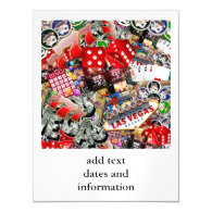 Gamblers Delight - Las Vegas Icons Background Magnetic Invitations