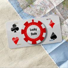 Gambler's License Plate