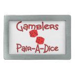Gamblers Pair A Dice Belt Buckles