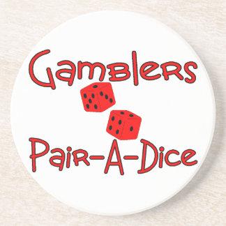 Gamblers Pair A Dice Beverage Coaster