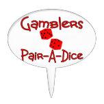Gamblers Pair A Dice Cake Topper