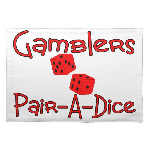 Gamblers Pair A Dice Cloth Placemat