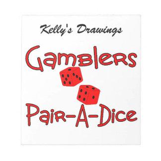 Gamblers Pair A Dice Notepad