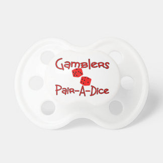 Gamblers Pair A Dice Baby Pacifier