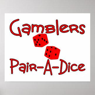 Gamblers Pair A Dice Poster