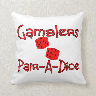 Gamblers Pair A Dice Throw Pillow