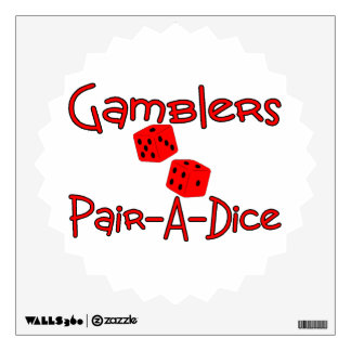 Gamblers Pair A Dice Wall Decals