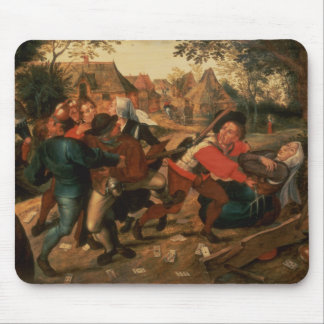 Gamblers Quarrelling Mouse Pad