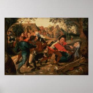 Gamblers Quarrelling Poster