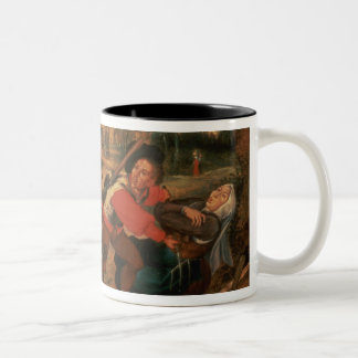 Gamblers Quarrelling Two-Tone Coffee Mug
