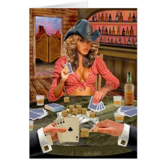 GAMBLIN' COWGIRL CARD