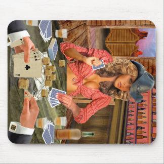 Gamblin' Cowgirl Mouse Pad