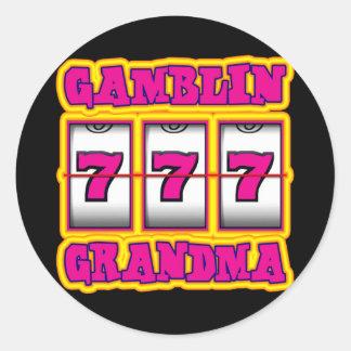 GAMBLIN GRANDMA CLASSIC ROUND STICKER