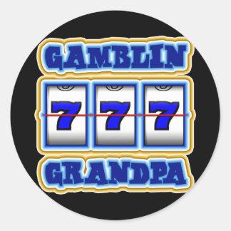 GAMBLIN GRANDPA CLASSIC ROUND STICKER