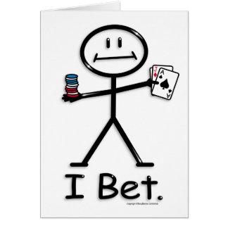 Gambling (bet) greeting card