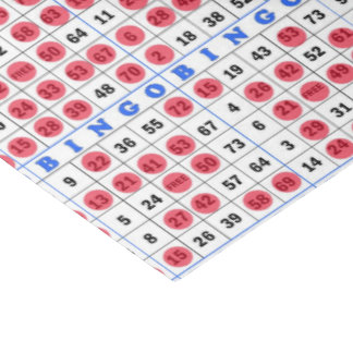 "Gambling Bingo card tissue paper 15"" X 20"" Tissue Paper"