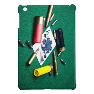Gambling cards and bullets iPad mini cover
