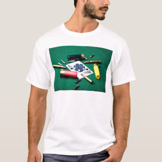 Gambling cards and bullets T-Shirt