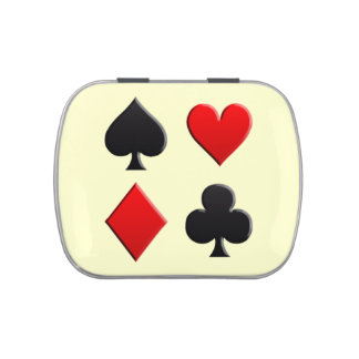 Gambling Cards Suits Candy Tin