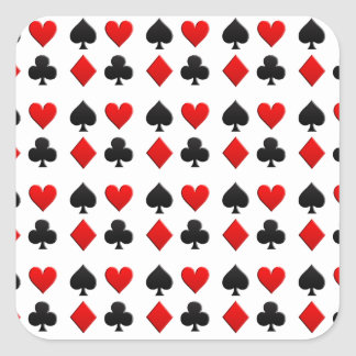 Gambling Cards Suits Square Sticker