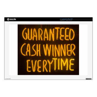 Gambling Casino Cash Winner Sign Neon Lights Decals For Laptops