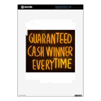 Gambling Casino Cash Winner Sign Neon Lights iPad 2 Skin