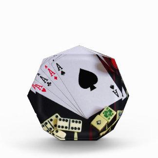 Gambling casino gaming pieces acrylic award