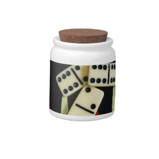 Gambling casino gaming pieces candy jar