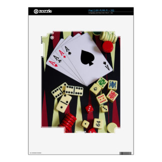 Gambling casino gaming pieces decal for the iPad 2