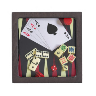 Gambling casino gaming pieces gift box