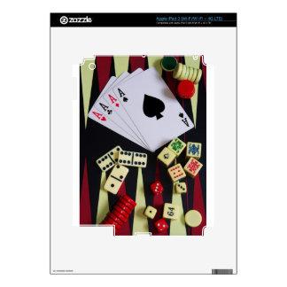 Gambling casino gaming pieces iPad 3 skin