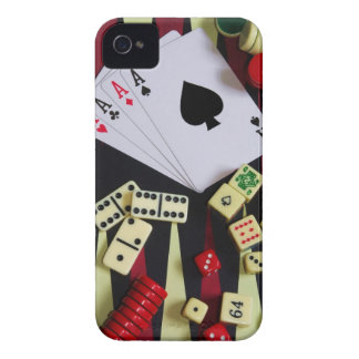 Gambling casino gaming pieces iPhone 4 Case-Mate case