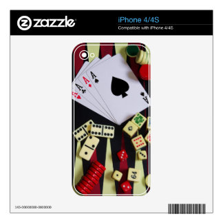Gambling casino gaming pieces iPhone 4S decal