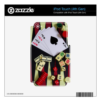 Gambling casino gaming pieces iPod touch 4G decal
