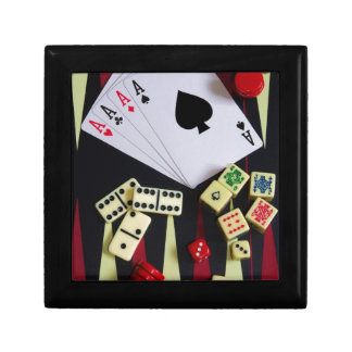 Gambling casino gaming pieces keepsake box