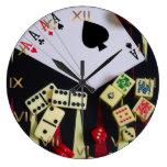 Gambling casino gaming pieces large clock