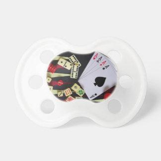 Gambling casino gaming pieces pacifier
