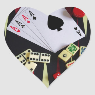 Gambling casino gaming pieces stickers