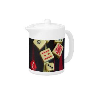 Gambling casino gaming pieces teapot