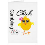 Gambling Chick Greeting Cards