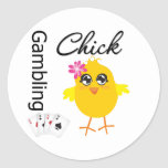 Gambling Chick Stickers