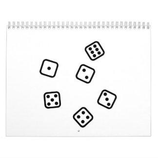 Gambling dice calendar