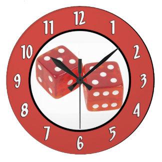 Gambling Dice Wall Clock